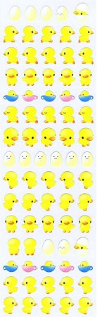 Mini Yellow Ducks Kawaii Stickers