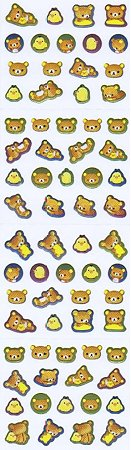 Metallic Mini Rilakkuma Bear Kawaii Stickers