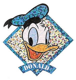 Shiny Donald Stickers