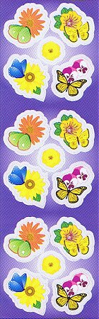 Flowers And Butterflies Stickers