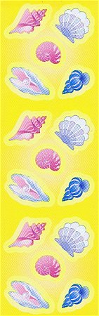 Pastel Sea Shells Stickers