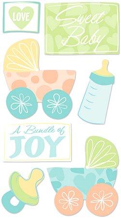 Glitter Sweet Baby Stickers