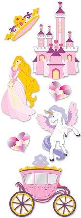 3D Glitter Princess Stickers
