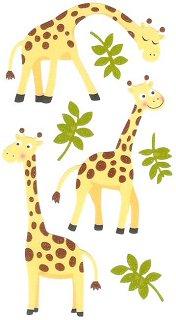 Glitter Giraffes Stickers