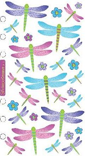 Opalescent Dragonflies Stickers