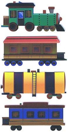 3d Shiny Train Stickers