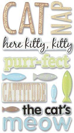 Glitter Cat Epoxy Stickers