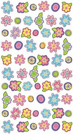 Small Glitter Flowers Stickers