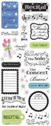 Glitter Recital W/ Jewels Stickers
