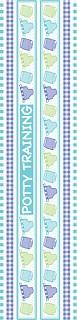 Potty Training Borders Stickers