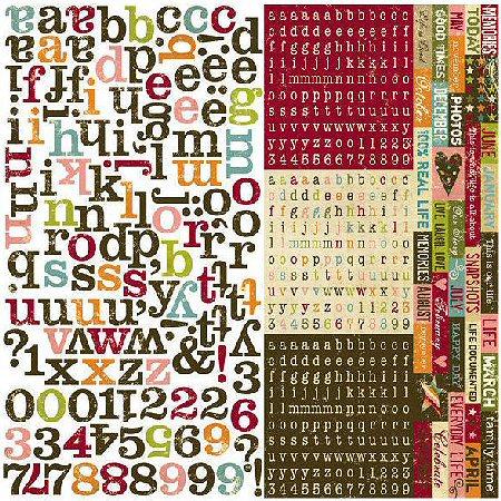 Life Documented Alphabet Stickers
