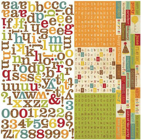 Happy Birthday Alphabet Stickers