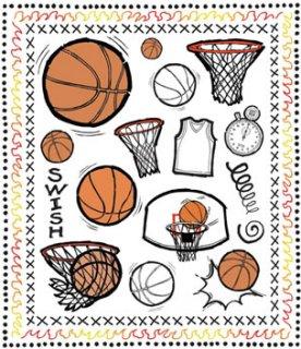 Basketball Court Rub-Ons