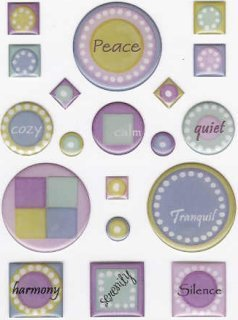 Peace & Quiet Epoxy Stickers