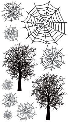 Spider Webs Rub-Ons