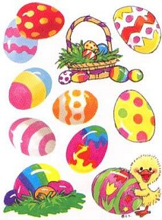 Iridescent Easter Eggs Stickers
