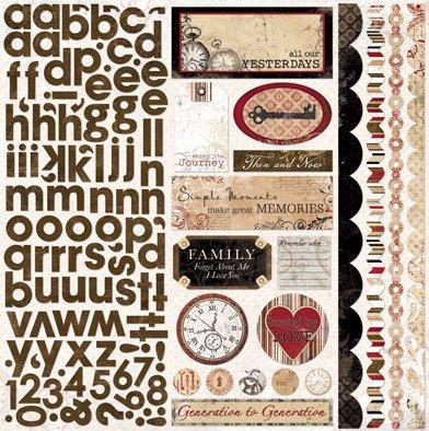 Timepiece W/ Alphabet Stickers