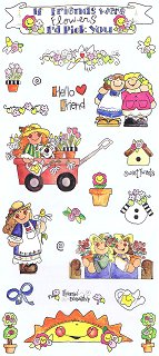 If Friends Were Flowers Stickers