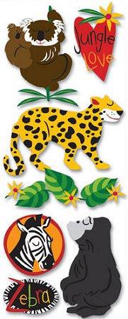 3d Gorilla & Koala Stickers
