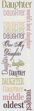 Daughter Rub-Ons