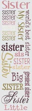 Sister Rub-Ons