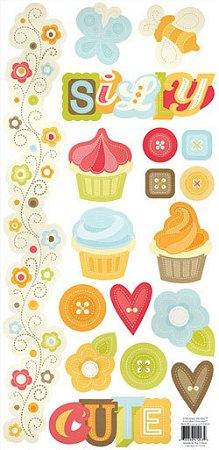 Embossed Cute Treats Stickers