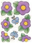Purple Buds Stickers