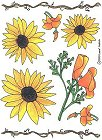 Summer Flowers Stickers