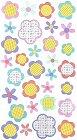 Glitter Patchwork Flowers Stickers