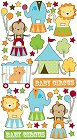 Glitter Baby Circus Stickers
