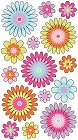 Glitter Playful Blooms Stickers
