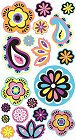 Glitter Paisley And Flowers Stickers