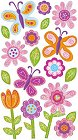 Whimsical Garden Flowers Stickers