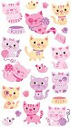 Pink Cats Stickers