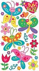 Luv Bug Butterflies Stickers