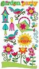 Glitter Garden Flowers Stickers