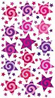 Purple Swirl Stars Epoxy Stickers