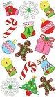 Merry Christmas Epoxy Stickers