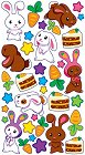 Shiny Bunnies Epoxy Stickers