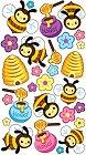 Shiny Bees Epoxy Stickers