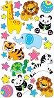 Plush Zoo Epoxy Stickers