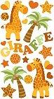 Shiny Giraffe Epoxy Stickers