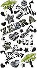 Shiny Zebra Epoxy Stickers