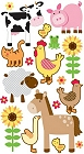 Farm Animals Epoxy Stickers