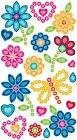 Jewel Flowers Epoxy Stickers