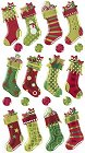 Christmas Stockings Epoxy Stickers
