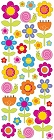 Puffy Happy Flowers Stickers