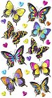 3D Metallic Butterflies Stickers
