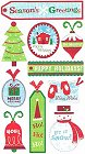 Christmas Glitter Tags Stickers