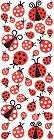 Puffy Ladybugs Stickers